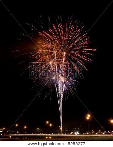 Fireworks Above Expressway