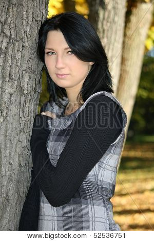 Attractive Woman Posing In The Park