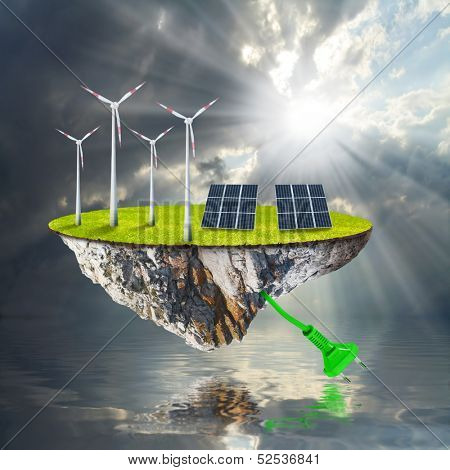 Green energy. Renewable resources concept.