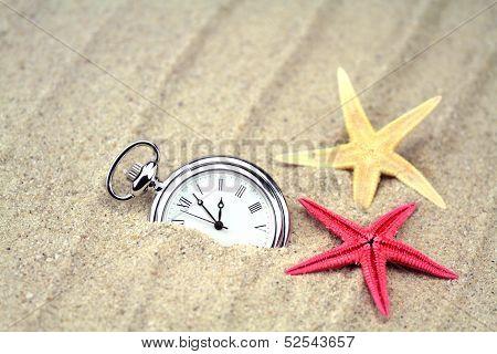 Pocket watch with starfish.