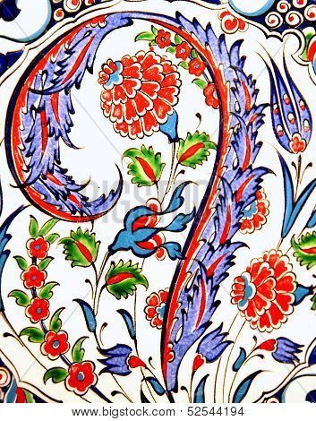 Patterned Ottoman ceramics .
