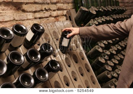 Man Chooses Wine
