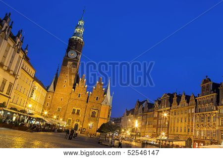 Gothic Tower Of The Old Town Hall, Wroclaw