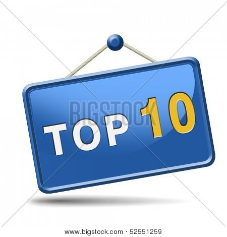 top 10 charts list pop poll result and award winners chart ranking music hits best top ten quality rating prize winner icon