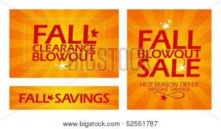 Final fall clearance sale banners.