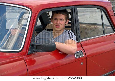 Driver Retro Car