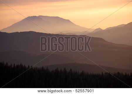 Mount St. Helens Dusk, Washington state