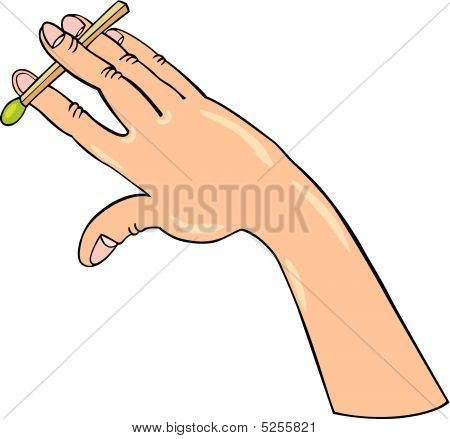Hand Doing Trick With Match