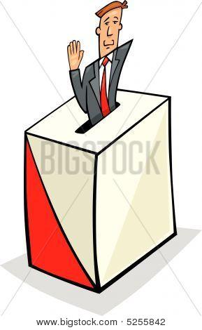 Man In Ellection Ballot Box