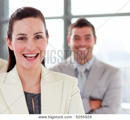 Attractive Businesswoman With A Colleague