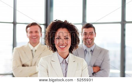 Confident Young Businesswoman In Office