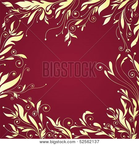 Flourishes Frame with  Floral Pattern