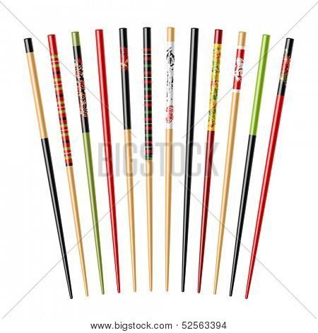 Set of chopsticks. Vector.