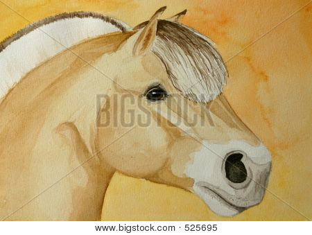 Fjord Horse Painting