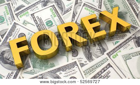 Forex On The Dollar Background