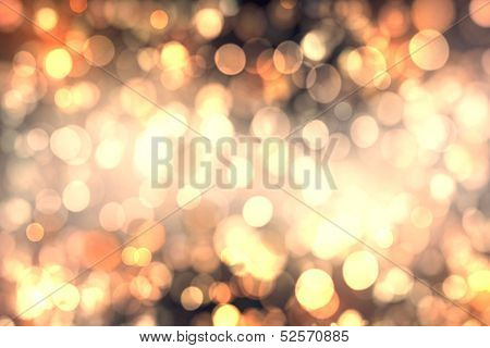 Abstract Background Of Candlelights For Christmas