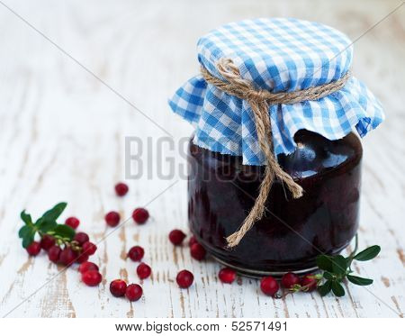 Jar Of Cranberries Jam