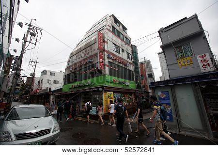 Seoul South Korea street scene