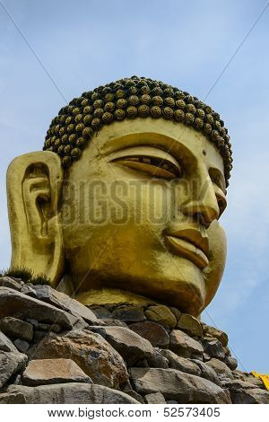 Buddha head at Waujeongsa Temple, Korea