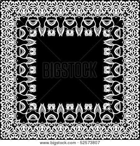 Floral border, frieze, frame