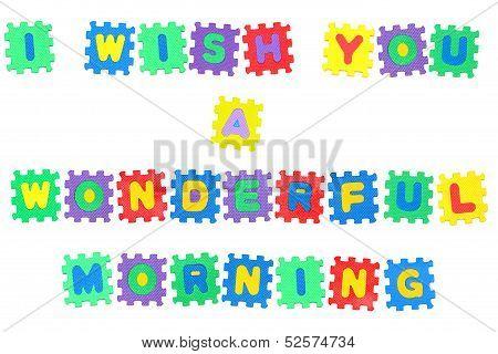I Wish You A Wonderful Morning