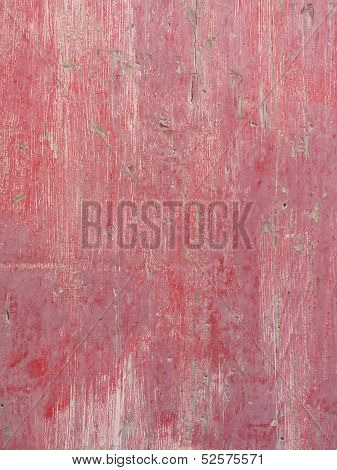 Close-up of old red-painted wood as background