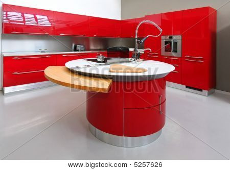 Red Kitchen Counter
