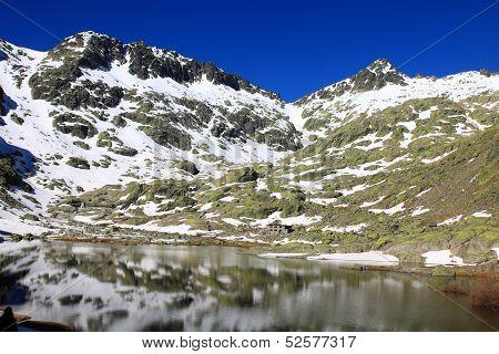 Big lagoon in Gredos`s mountain, Spain