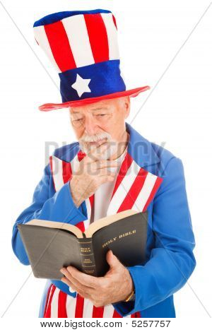 Uncle Sam Reads The Bible
