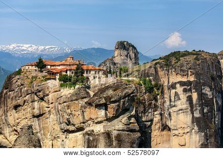 Meteora Monasteries In Trikala Region In Summer, Greece.