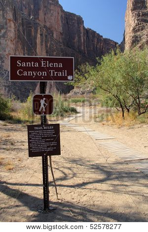 Santa Elena Canyon Trailhead