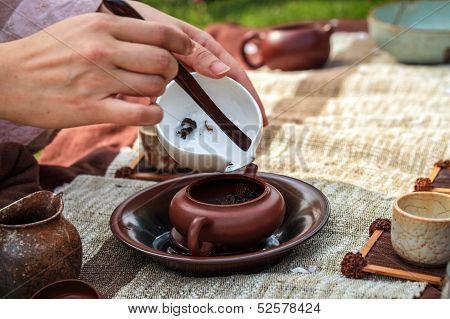 Traditional Tea Ceremony Closeup