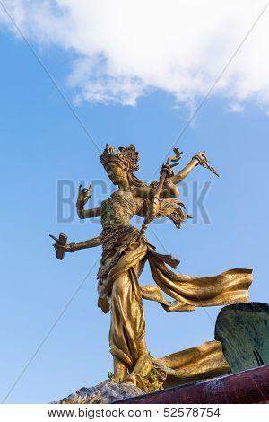 Bali goddes of dance statue