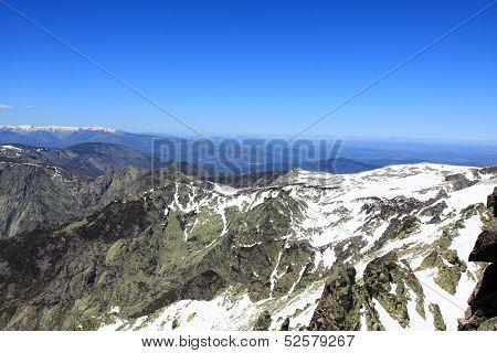 Snow gredos mountains in Avila Spain Europa