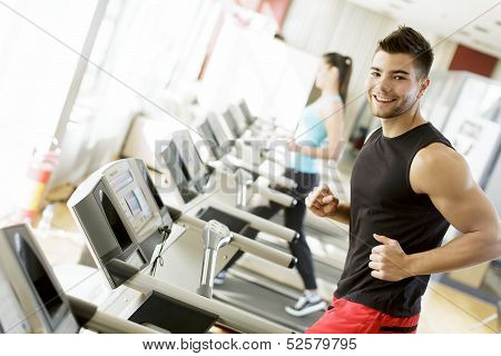 Young Man In The Gym