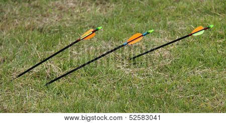 Three Archery Arrows.