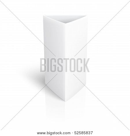 Blank paper vertical triangle card.