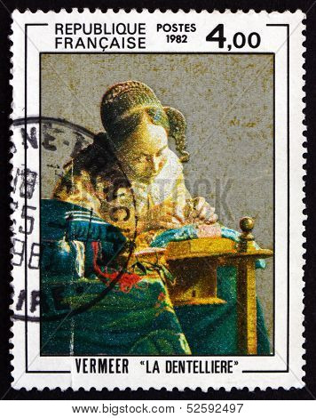 Postage Stamp France 1982 The Lacemaker, By Vermeer