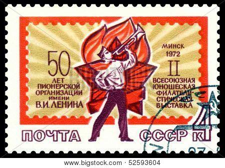 Vintage Postage Stamp. Pioneer.