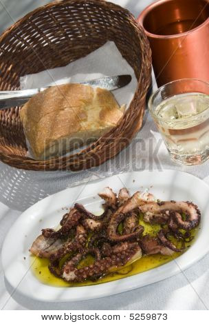 Greek Island Taverna Specialty Marinated Grilled Octopus
