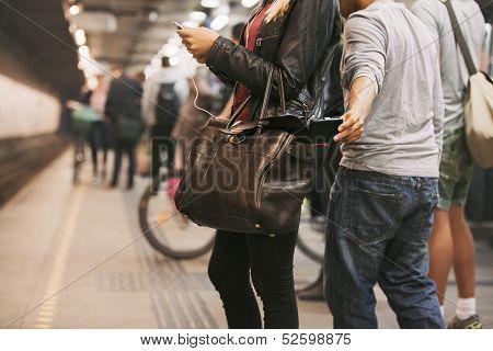 Pickpocketing At The Subway Station