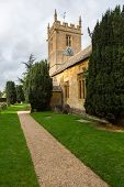 pic of church-of-england  - Parish church of Stanway and Stanton in Cotswold or Cotswolds district of southern England in the autumn - JPG