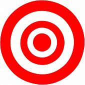 stock photo of archer  - Vector illustration of a target bulls eye - JPG