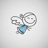 foto of blue angels  - christmas card with hand drawn angel - JPG