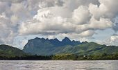 stock photo of ou  - Countryside around Nam Ou river in Laos - JPG