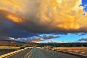 image of steppes  - Storm over the Pampas - JPG