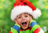 picture of excite  - Christmas excitement  - JPG