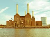 Retro Looking Battersea Powerstation London