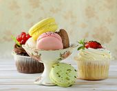 stock photo of cake stand  - holiday desserts - JPG