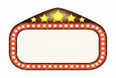 picture of matinee  - A blank movie theatre or theatre marquee - JPG